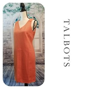 Orange Lined Dress With Pockets By Talbots